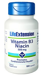 Vitamin B3 Niacin, 500 mg, 100 capsules