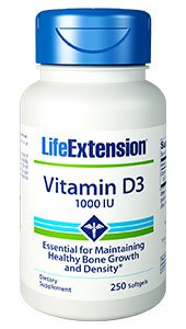 Vitamin D3, 1,000 IU, 250 softgels