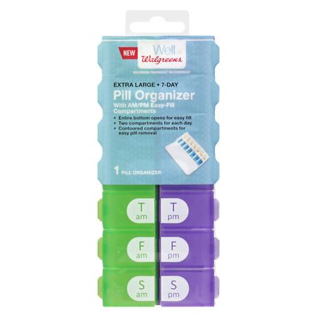 Walgreens 7 Day Pill Organizer AMPM EZ Fill XL - 1 ea