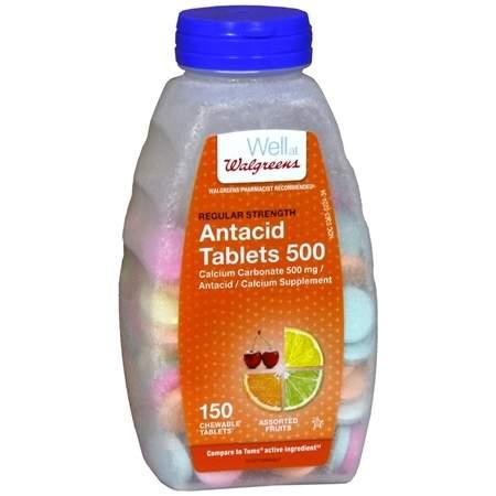 Walgreens AntacidCalcium Supplement Tablets Regular Strength Assorted - 150 ea