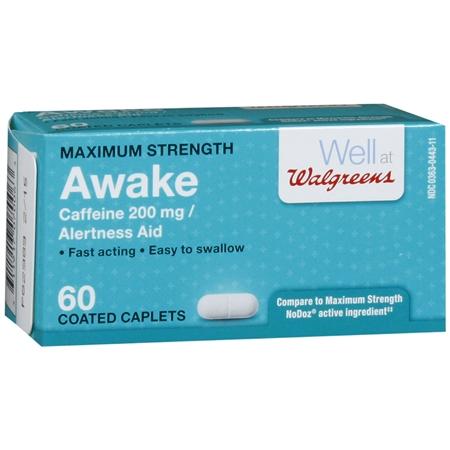 Walgreens Awake Alertness Aid Caplets - 60 ea