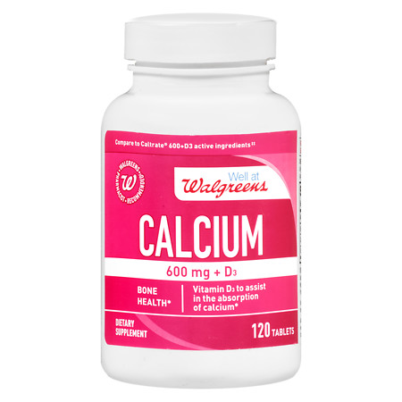 Walgreens Calcium 600 mg + D3 Tablets - 120 ea