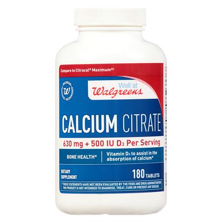 Walgreens Calcium With Vitamin D Supplement Maximum Strength - 180 ea