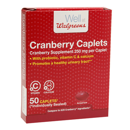 Walgreens Cranberry Urinary Tract Health Caps - 50 ea