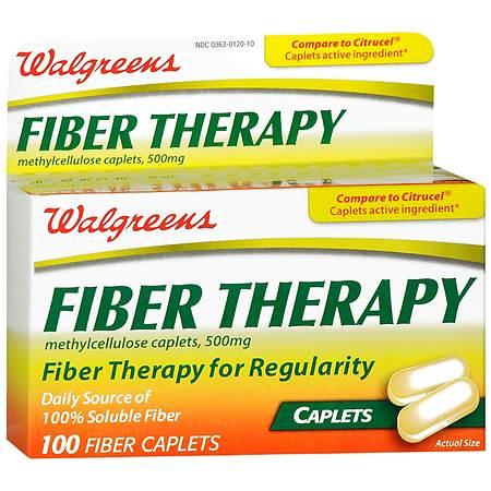 Walgreens Fiber Therapy Caplets - 100 ea