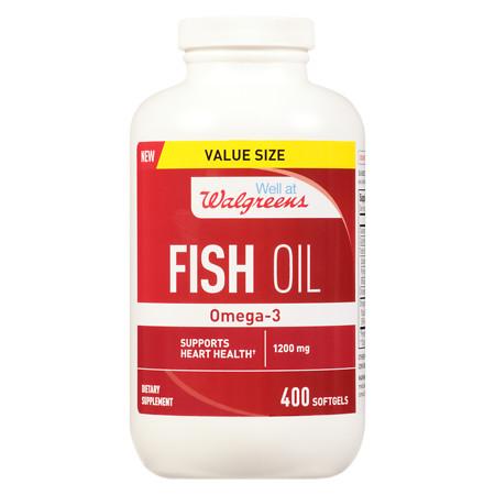 Walgreens Fish Oil 12000 mg Supplement - 400 ea