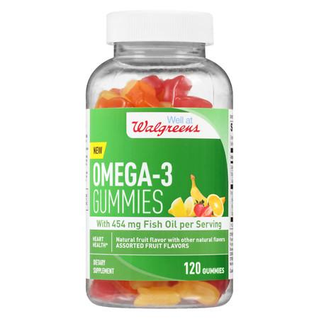 Walgreens Fish Oil With Omega 3 Gummies - 120 ea