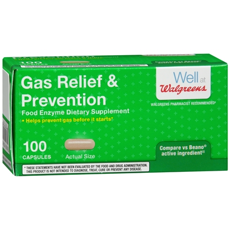 Walgreens Gas Relief & Prevention, Capsules - 100 ea