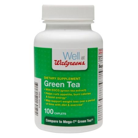 Walgreens Green Tea Dietary Supplements, Caplets - 100 ea