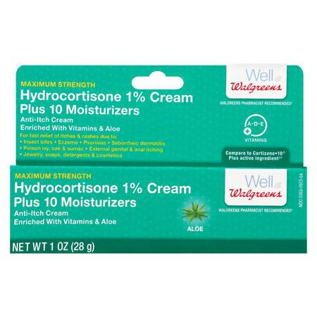 Walgreens Hydrocortisone Plus Cream Maximum Strength Aloe - 1 oz.