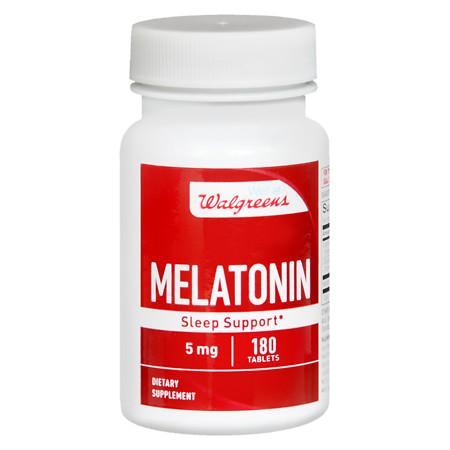 Walgreens Melatonin 5 mg Tablets - 180 ea