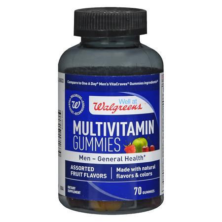 Walgreens Multivitamin Mens Gummies Fruit - 70 ea