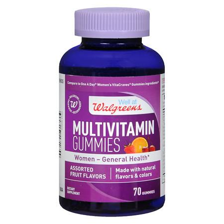 Walgreens Multivitamin Women General Health Gummies Fruit - 70 ea