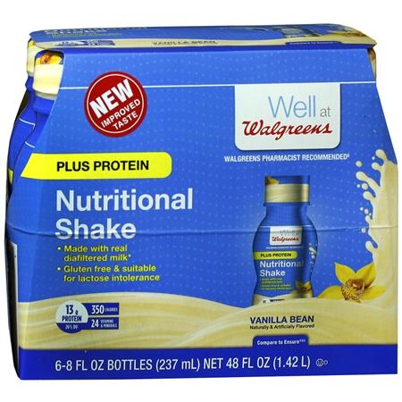 Walgreens Nutritional Plus Shake Vanilla - 8 oz.