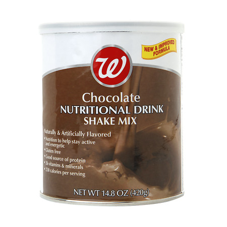 Walgreens Nutritional Shake Powder Chocolate - 14.7 oz.