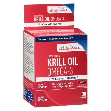 Walgreens Omega-3 Krill Oil, Softgels - 30 ea