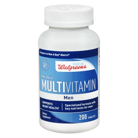 Walgreens One Daily Multivitamin Mens Heart Health, Tablets - 200 ea