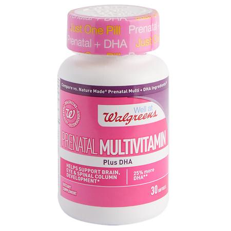 Walgreens Prenatal Multivitamin Plus DHA, Softgels - 30 ea