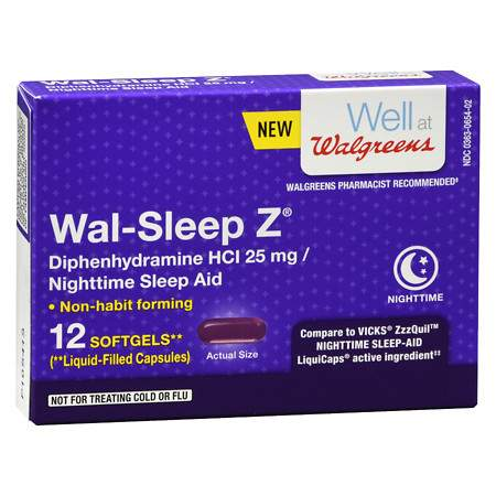 Walgreens Sleep Z Nighttime Sleep Aid Caplets - 12 ea