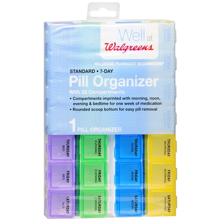 Walgreens Standard 7-Day Pill Organizer - 1 ea