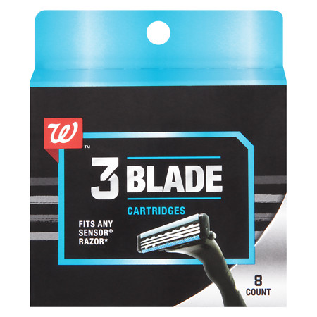 Walgreens Triple Blade Cartridges - 8 ea