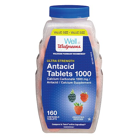 Walgreens Ultra Strength AntacidCalcium Supplement Chewable Tablets Assorted Berry - 160 ea