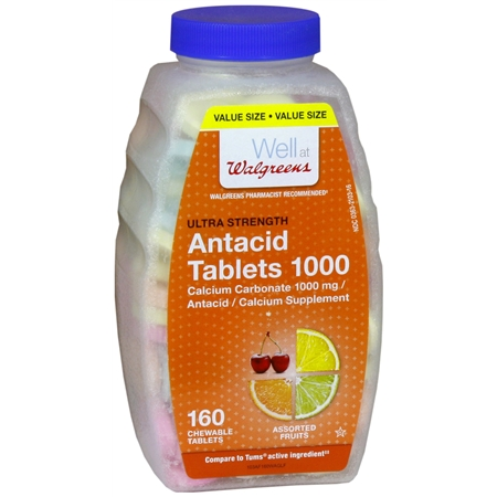 Walgreens Ultra Strength AntacidCalcium Supplement Chewable Tablets Assorted Fruit - 160 ea