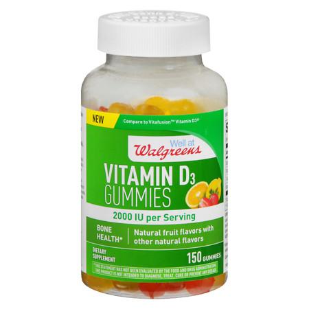Walgreens Vitamin D3 2000 IU Gummies Fruit - 150 ea