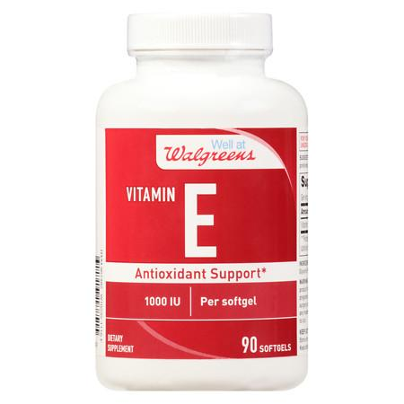 Walgreens Vitamin E 1000 IU Softgels - 90 ea