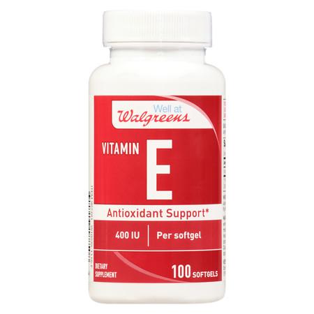 Walgreens Vitamin E 400 IU Softgels - 100 ea