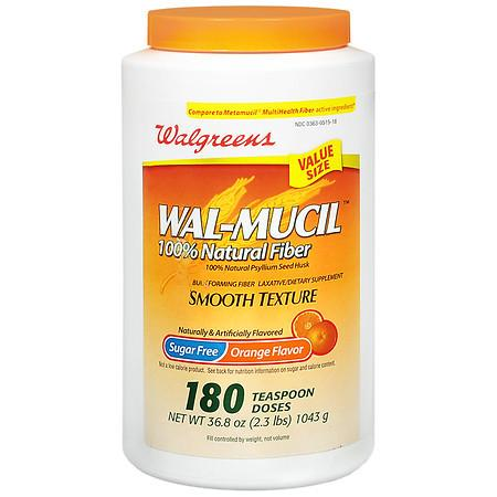 Walgreens Wal-Mucil 100% Natural Fiber LaxativeDietary Supplement Powder - 36.8 oz.