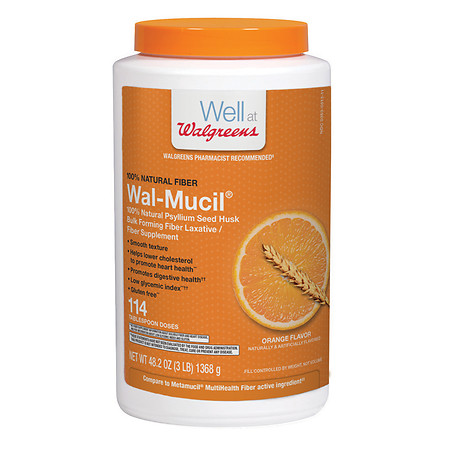 Walgreens Wal-Mucil 100% Natural Psyllium Seed Husk Bulk Forming Fiber Supplement Powder - 48.2 oz.