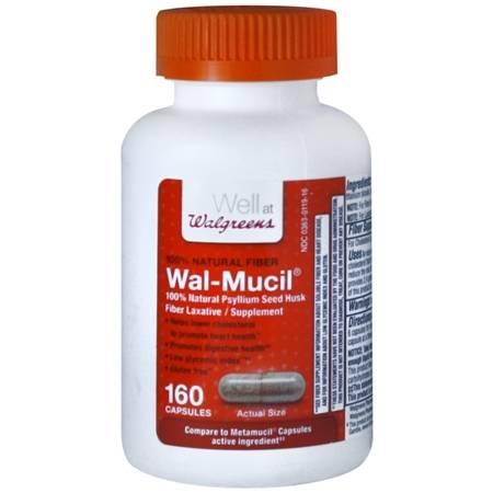 Walgreens Wal-Mucil Fiber LaxativeSupplement Capsules - 160 ea