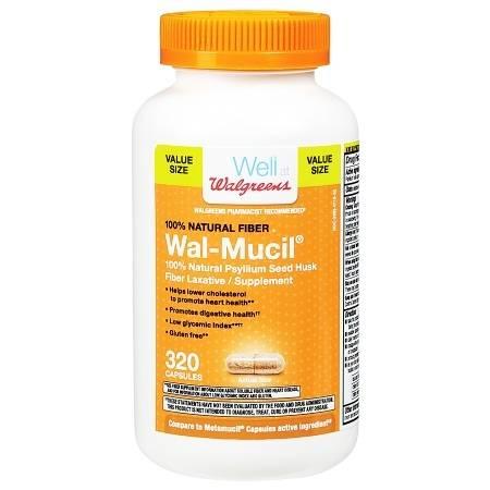 Walgreens Wal-Mucil Fiber LaxativeSupplement Capsules - 320 ea