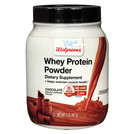 Walgreens Whey Protein Chocolate Chocolate - 32 oz.