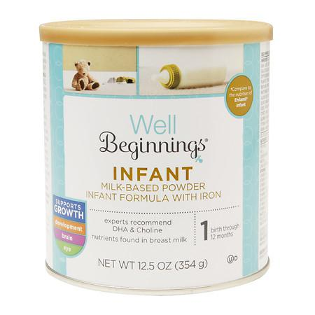 Well Beginnings Infant Formula with Iron Stage 1 - 12.5 oz.