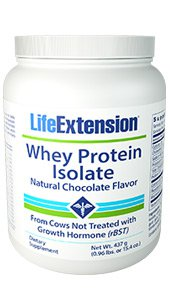 Whey Protein Isolate (Natural Chocolate Flavor), 437 grams (0.96 lb. or 15.4 oz.)