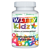 WittyKidz Natural Focus & Attention Supplement for Kids - 6 Month Supply