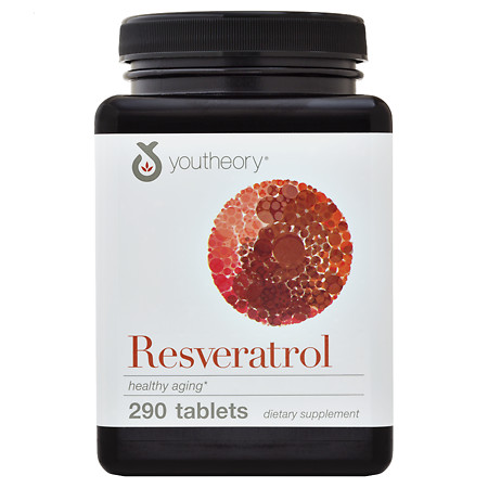 Youtheory Resveratrol Anti-Aging Benefits Tablets - 290 ea