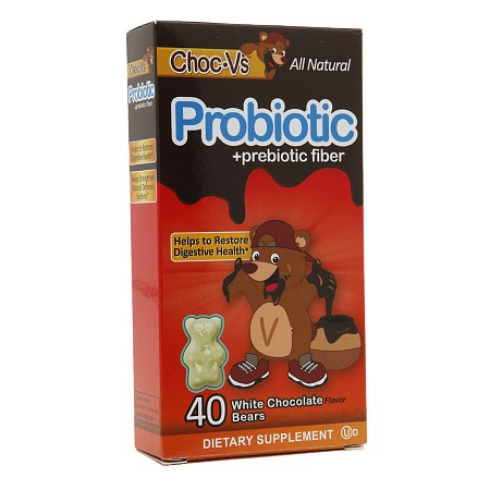 Yum-V's Choc-V's Probiotic + Prebiotic Fiber Bears White Chocolate - 40 ea