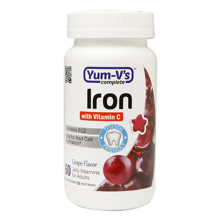 Yum-V's Complete Iron with Vitamin C Adult Jellies Grape - 60 ea
