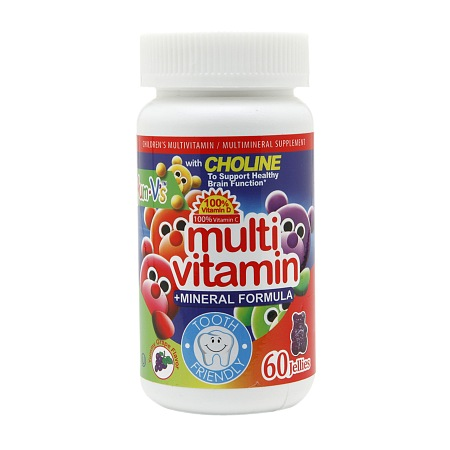 Yum-V's Multivitamin + Mineral Formula Jellies Yummy Grape - 60 ea