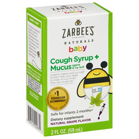 ZarBee's Naturals Baby Cough Syrup + Mucus Reducer Grape - 2 fl oz
