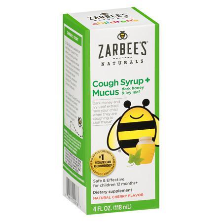 ZarBee's Naturals Children's Cough & Mucus Cherry - 4 fl oz