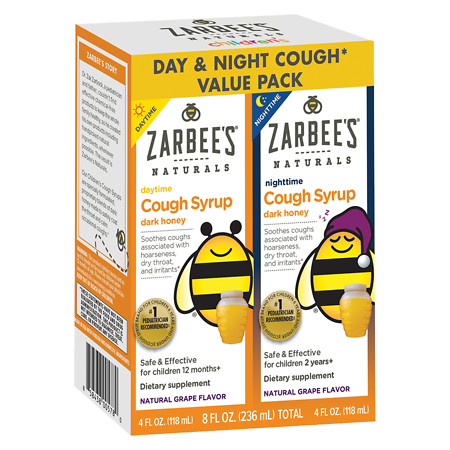 ZarBee's Naturals Children's DaytimeNighttime Cough Syrup Grape - 4 fl oz
