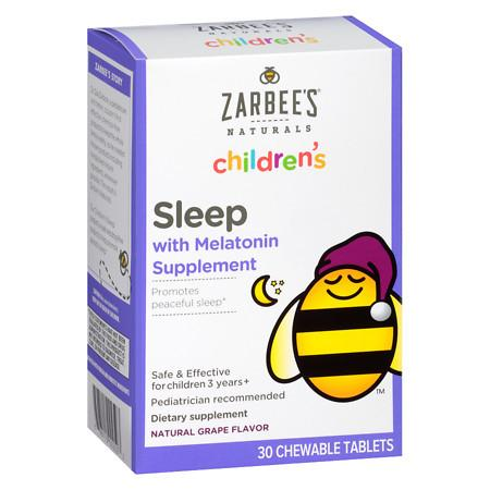 ZarBee's Naturals Children's Sleep Aid Chewable Tabs Grape - 30 ea