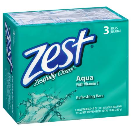 Zest Bath Bars Aqua - 3 ea