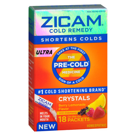 Zicam Ultra Cold Remedy Crystals BerryLemonade - 18 ea
