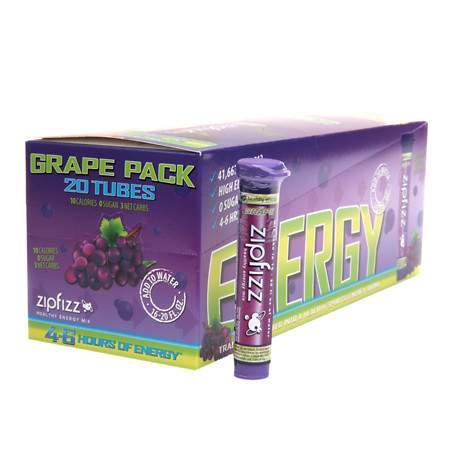 Zipfizz Healthy Energy Mix, Tubes Grape - 0.4 oz.