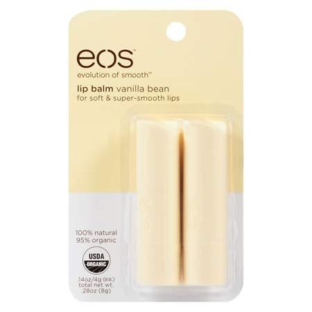 eos Lip Balm Stick Vanilla Bean, Vanilla Bean, 2pk - 0.28 oz.